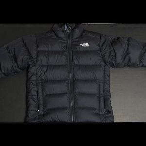 Boys 10/12 north face black puffer jacket